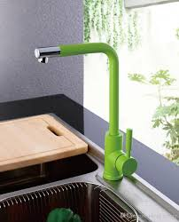 kitchen sink faucet with black white green orange and blue