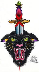 panther head by brycen sullivan black wild cat tattoo canvas art