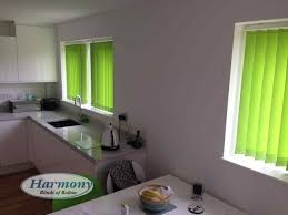 lime green kitchen blinds vertical in a harmony of bolton