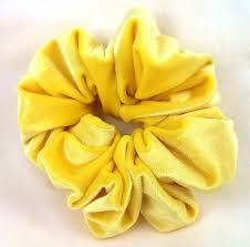hair scrunchy solid yellow velvet hair scrunchy hair scrunchies s
