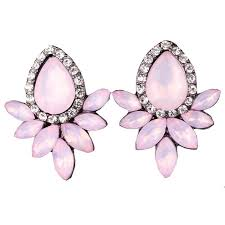 fashion earrings women s fashion earrings rhinestone gray pink glass black resin