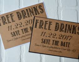 Save The Date Cards Free Free Beer Save The Date Cards Funny Kraft Rustic Save The Date