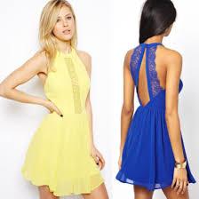 dress boho dress casual casual dress yellow dress blue lace