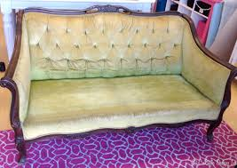 Cushion Settee Before And After Of Diamond Tufted Settee Cre8tive Designs Inc