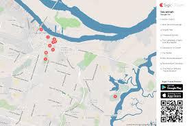 Savannah Map Savannah Printable Tourist Map Sygic Travel