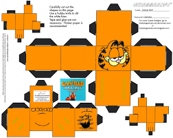 garfield cubee par theflyingdachshund on deviantart paper toys