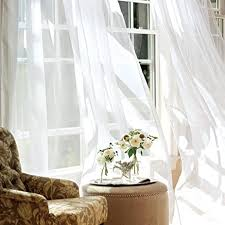 63 White Curtains Sheer Curtains For Bedroom Living Room Window Curtains