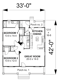 first floor plan of cottage country house plan 64586 house plans