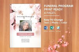 where to print funeral programs funeral programs template microsoft word