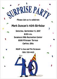 40th birthday party invitations u2013 gangcraft net