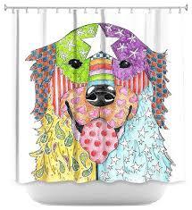 Shower Curtains Unique Shower Curtain Unique From Dianoche Designs Golden Retriever Dog