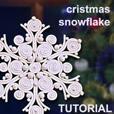 snowflake polymer clay in filigree technique claylessons