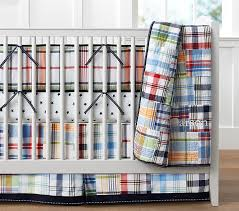 Crib Bedding Sets Madras Baby Bedding Set Pottery Barn