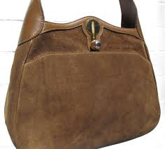 vintage gucci tan suede hobo style purse at 1stdibs