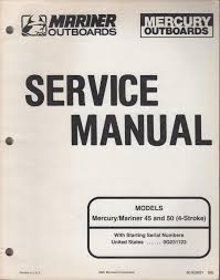 1996 mariner mercury outboard 45 u0026 50 4 stroke service manual