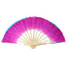 silk fans dual color silk bamboo folk fan handmade belly