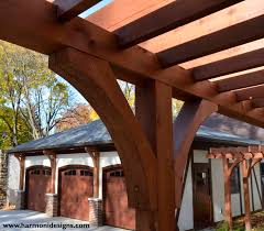 berkshire garage cleveland heights harmoni designs detail of cedar pergola