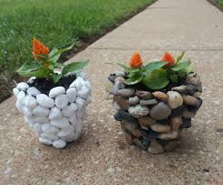 diy river stone planter 3 steps with pictures