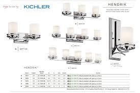 kichler 5078ni brushed nickel hendrik 3 light 24