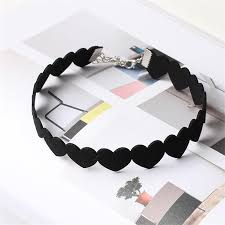 love heart choker necklace images Simple black love heart choker necklace statement jewelry jpg