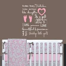 Baby Nursery Wall Decal by Flower Border Vinyl Decal Wall Stickers Baby Girls Room Decor 035