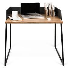 modern black desks modern desks volga walnut black desk eurway furniture