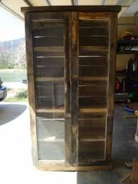 Pallet Bookcase Wood Bookcase With Glass Doors Foter