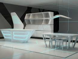 Corian Dining Tables Futuristic Corian Kitchen And Dining Area