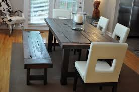 Rustic Bench Dining Table Wood Dining Table Bench Best Gallery Of Tables Furniture