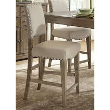 liberty weatherford upholstered nailhead bar stools set of 2