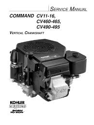 kohler command 16hp vertical shaft engine service manual