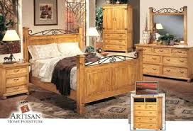 Pine Bed Set Cannonball Bedroom Furniture Cannonball Bed In Solid Oak Pine
