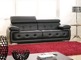 canap cuir noir 3 places canapé 3 places cuir san marco