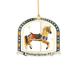colored brass carousel ornament ornaments the saratoga