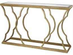 Small Accent Table Ls Dimond Home 60 X 15 Rectangular Metal Cloud Antique Gold Console