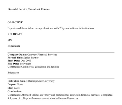Sale Consultant Resume Resume Examples Financial Planning Consultant Resumes Strategic