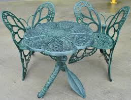 Turquoise Patio Chairs Dining Room Miraculous Cast Aluminum Outdoor Bistro Set Patio