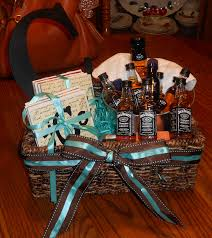 whiskey gift basket for cole complete with homemade coasters and