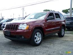 red jeep cherokee 2008 jeep grand cherokee laredo 4x4 in red rock crystal pearl