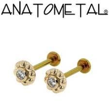 flat back earrings purple opal helix cartilage flat back earrings