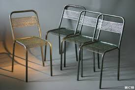 chaise m tal industriel chaise design industriel liverpool noir lot de 2 achat vente chaise