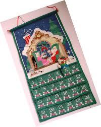 vintage avon christmas advent calendar fabric holiday countdown