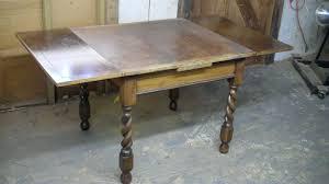 antique draw leaf table john mark power antiques conservator quarter sawn oak draw leaf