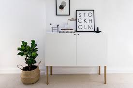 Besta Hacks Ikea Besta Hack Scandinavian Sideboard Cabinet Happy Grey Lucky