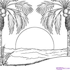 how to draw a sunset step by step other landmarks u0026 places