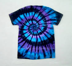 Tie Dye Halloween Shirts by Tie Dye Shirt Moon Shadow Spiral Blue Purple Black 18 99 Usd By