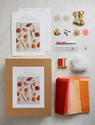 heirloom wool ornaments kit