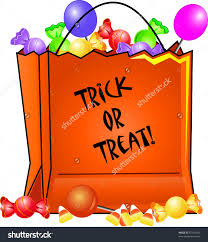 halloween candy bag with treat clipart