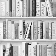White Bookcase by Bookcase Pattern Wallpaper White Natural Feature Wall Various