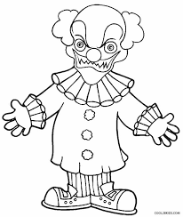 goosebumps coloring pages printable clown coloring pages for kids cool2bkids